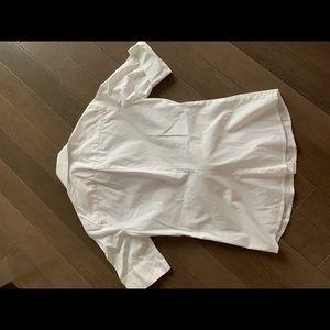 TRINA TURK short sleeve button down knot waist top